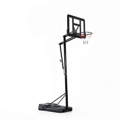 Homcom® Mobiler Basketballständer Basketballkorb mit Ständer höhenverstellbar, Stahl+PE, Schwarz, 230x110x368cm
