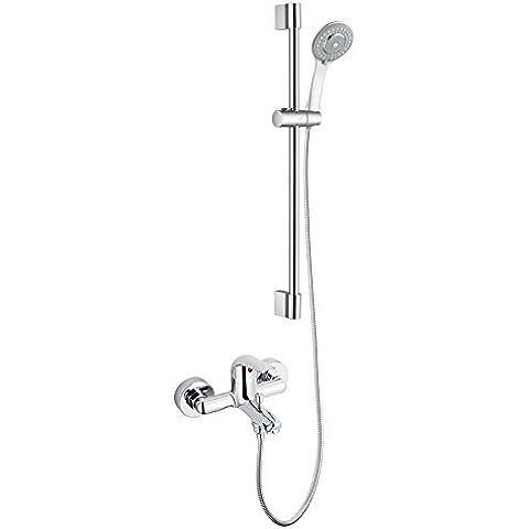Kit Bagno Doccia riduttore sottile Boost stile cu tutti bagno di acqua fredda rubinetto 12333ec 12333+ s902ec, 12333+ 2293ec + m22060pacchetto installazione