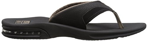 Reef Fanning, Flip-flop homme Noir (Black/Brown)