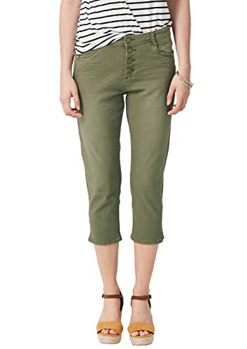 s.Oliver Damen 14.904.72.2333 Skinny Jeans, Grün (Olive Denim Stretch 77z4), Herstellergröße: 42
