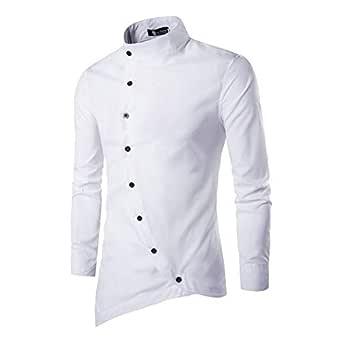 Jeevaan Men's Plain Solid Slim Fit Cotton Causal Shirt (White; Medium)