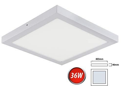 36W LED Deckenleuchte Neutralweiß 2500 Lumen 400x400mm Aufputz Lampe Eckig Decke Beleuchtung inkl. Trafo - 400-decken-beleuchtung