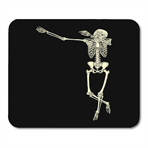 Gaming Mauspad Halloween Human Skeleton Posing Dab Perform Dabbing Dance Move Gesture 11.8