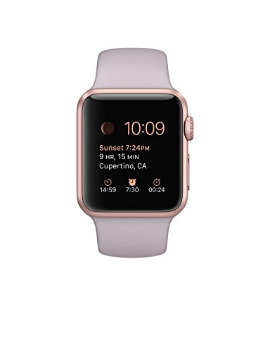 Apple Watch Sport 38mm Rosegold Aluminum Case with Lavender Sport Band