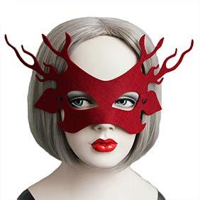 Yimosecoxiang Yimosecoxiang Make-up-Requisiten für Halloween, Geweih, Mode, zum Schnüren, Halbgesicht, für Halloween, ()