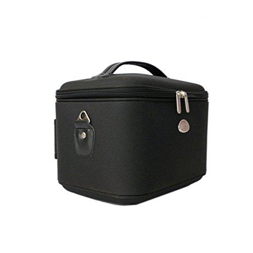 De Haute Qualité Cube Imperméable Luxe Léger épais Grande Capacité Sac à Cosmétiques Noir,Black-23*21*28cm