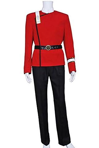 DreamDance Star Trek Wrath Of Khan Cosplay Uniform Costume Red