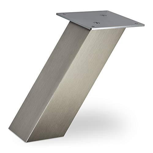 Console de Bar inclinée 210 x 80 x 70 mm Finition en Acier Inox Capacité de Charge 30 kg Comptoir de Cuisine Support de Comptoir de SO-TECH®