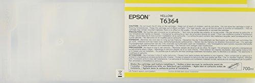 Epson T6364 C13T636400 - Cartouche d'encre d'origine - Jaune (Yellow) pour Stylus Pro - 700ml