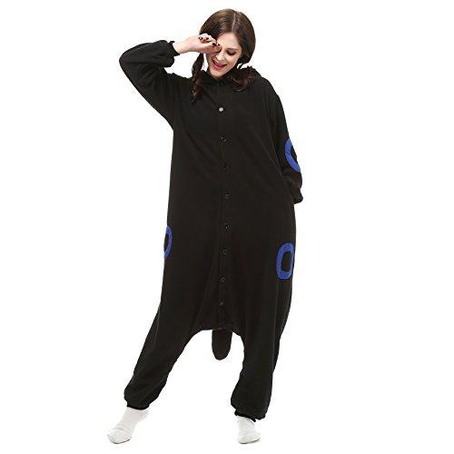 Erwachsene Für Monsters Mike Inc Kostüm - VU Roul Unisex Kleidung Kigurumi Cosplay Schlafanzug Gr. Large, Black Smurfs