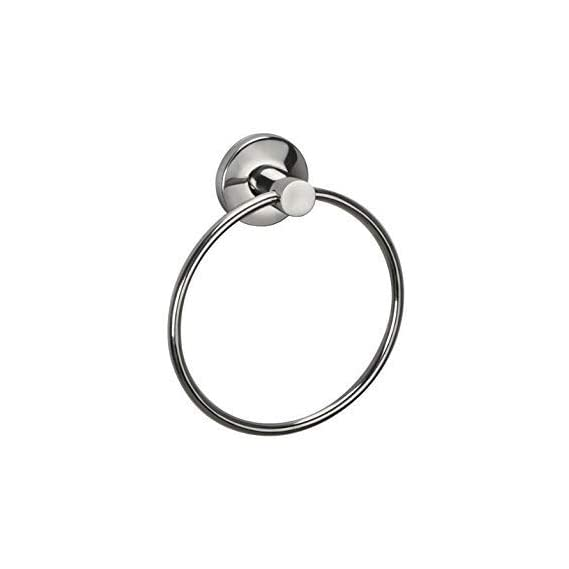 A&Y Deluxe Rod Napkin & Towel Ring Stainless Steel 202 (Silver,Chrome Finish) (Ring Diameter 6 inch)