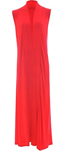 Ladies Boyfriend Long Sleeve Length Maxi Cardigans Women Open Top Plus Size 8-18