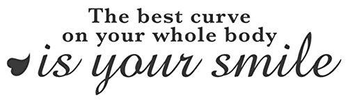 wandaufkleber sterne bunt Die beste Kurve auf Ihrem ganzen Körper ist Ihr Lächeln
