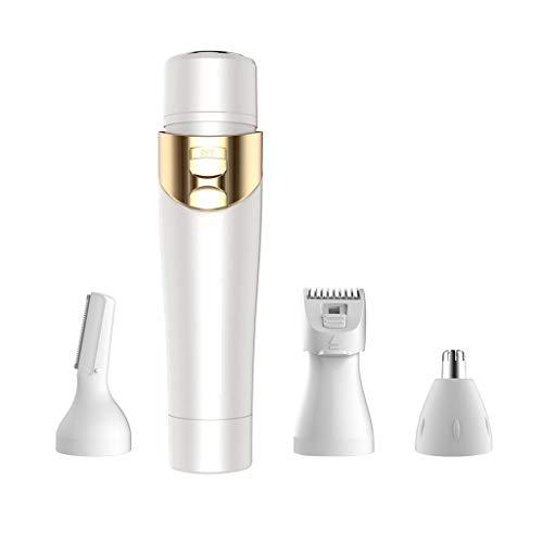 Bester Gesichtshaar-Abbau für Frauen 4 in 1 sicherem schmerzlosem wasserdichtem Körper-Haar-Trimmer-Damen-Haar-Entferner - Körper-haar-entferner