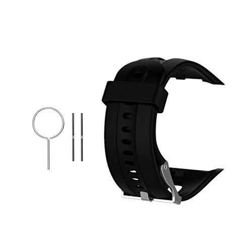 Hensych Ersatzband Band Wristband Strap Armband für Garmin Forerunner 10 / Garmin Forerunner 15 (Black)