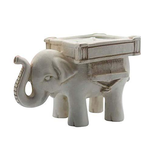 Homeng Creative Crafts - Soporte para Velas de Resina, diseño de Elefante