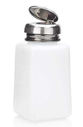 Pump Dispenser m. Metall-Pumper zum dosierten Auftragen, Reiniger Nagellackentferner, Cleaner, Kosmetex Pumpspender, 200 ml - Pump Dispenser