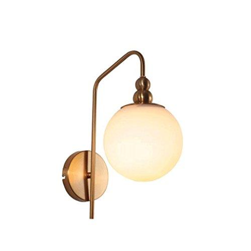 GBYZHMH Lampe de chevet chambre à coucher Salon créatif de l'étude de l'allée en verre Fer forgé projecteur unique lampe murale moderne minimaliste E27 ( Couleur : 1/pcs )