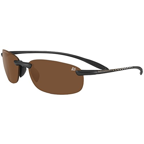 Serengeti - nuvola 24h le mans, sport, acetato, uomo, satin black/polarized phd drivers(8479), 61/15/0