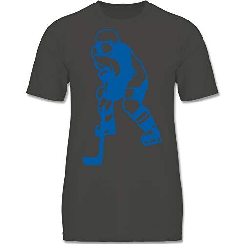 Sport Kind - Eishockey - 122-128 (7-8 Jahre) - Anthrazit - F140K - Jungen T-Shirt
