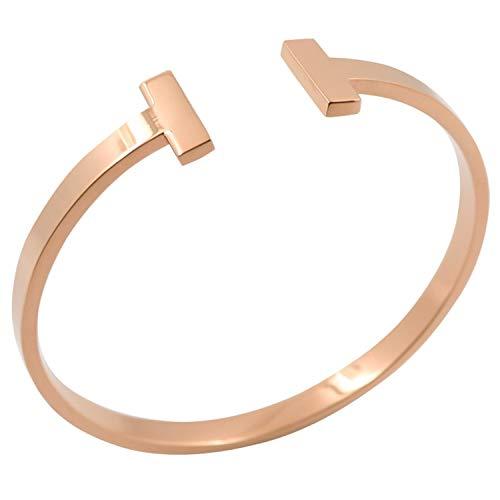 Designer Inspired Unisex Herren Damen - Edelstahl (Armband In Hermes Schwarz Und Gold)