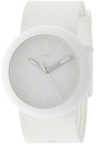 Swatch Damen Analog Quarz Uhr mit Silikon Armband PNW105