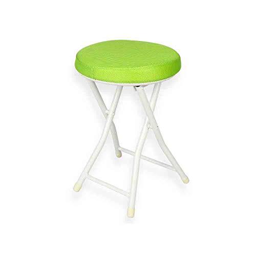 WGXX Klappstuhl Runde kompakte gepolsterte Klappstuhl-PU/Mesh-Tuch (Farbe : Green-Mesh)