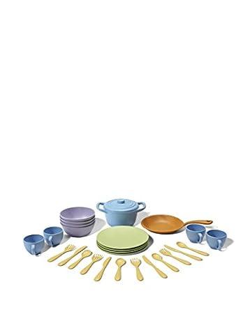 Green Toys 0793573454263 - Spiel Koch- und Essgeschirr (Porzellan Spielzeug)