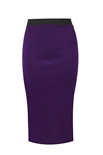 Funky Fashion Shop Damen Bleistiftrock Rock Violett