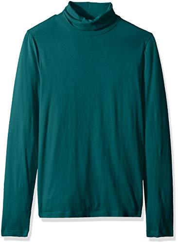 J.Crew Mercantile Damen Solid Lightweight Turtleneck T-Shirt Hemd, Academic Green, XX-Small -