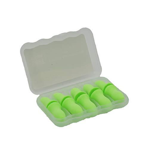 YOZOOM Weich Ohrstöpsel Schlafen Wiederverwendbar Rauschunterdrückung Ohrenstöpsel Weich Gehörschutzstöpsel für Damen Herren NRR 33dB SNR 35dB 5 Paar (Grün)