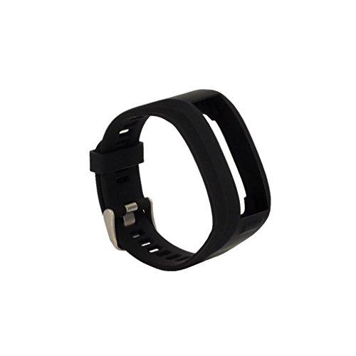ELECTROPRIME® 2X Fashion Wrist Sports Bands Holder Bracelet for Garmin Vivo Smart HR Black