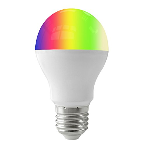 FUYUTEC E27 490LM ((50Watt Equivalent) RGB+Warm White LED Color Changing Dimmable Light Bulb with 2.4G RF Wireless Remote Controll (Not IR)