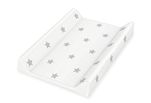 Pinolino 72022-8Colchón cambiador con, pantalla, Dessin 'Estrellas', gris