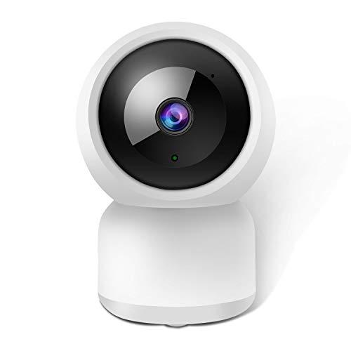 Überwachungskamera WLAN IP Kamera Indoor Full HD 1080P WiFi Dome Überwachungs Kamera 2-Wege-Audio Bewegungserkennung,Nachtsicht und Intelligenter Rotation, Baby Haustier Monitor