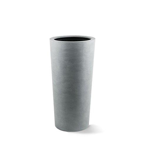 """Luca Lifestyle Pflanzkübel """"Argento Vase"""" Betongrau Rund Fiberglas *5 Jahre Garantie* - 36x36x68cm - F1170"""