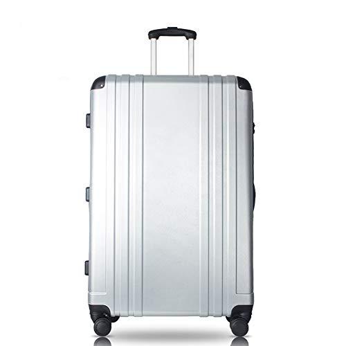 TY&GH Bagage À Main Premium Premium avec Étui Rigide DE 32 Po en Abs - Rotateur 360 ° À 4 Roues - Évolutif - Argent,Silver,32In