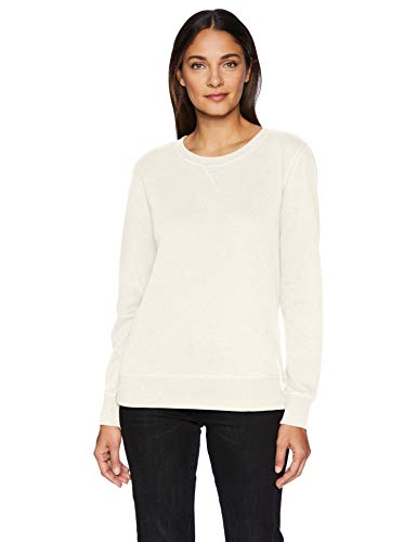 Amazon Essentials French Terry Crewneck Sweatshirt Oatmeal Heather US M (EU M-L) Crewneck Damen-sweatshirt