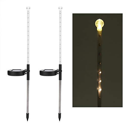 Led Solar Garten Lichter Romantische Haufen Licht Meteor Regen Garten Dekoration Lampe Outdoor Rasen Licht Haufen Für Rasen Hof Warmweiß 34,5 * 6,5 * 5 Cm (2 Stücke)