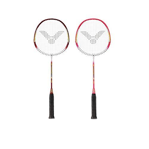 YSYDE 2er-Pack Badmintonschläger mit Sportkohlefaser Leichter Badmintonschläger Lassen Sie jeden Angriff multiplizieren