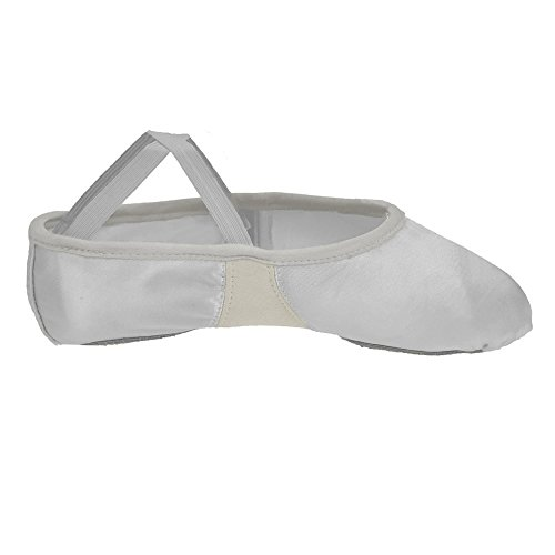 De Cetim Branca Flexi Divisão Sapatos Sola Ballet Starlite zg1Wwnwf