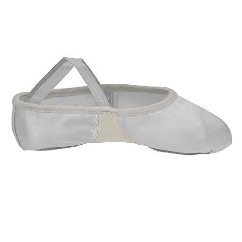 Flexi Cetim De Sola Sapatos Branca Starlite Ballet Divisão wxEnqq6TWB