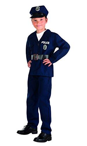 Boland 82186 - Kinderkostüm Polizist, blau, Größe - 10 Halloween-gesetze