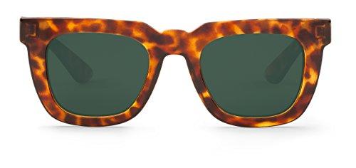 MR BOHO Unisex Sonnenbrille Monochrome, Rot, onesize