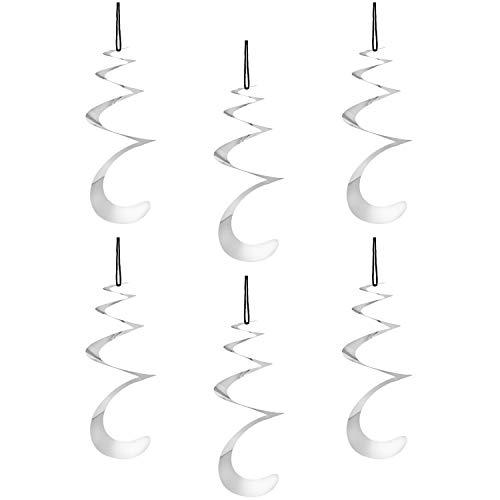 com-four® 6X Vogelabwehr als Windrad Spirale, 23 x 20 cm (06 Stück - Spirale)