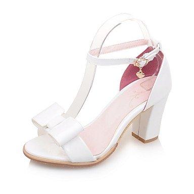 LvYuan Damen-Sandalen-Party & Festivität Kleid Lässig-PU-Blockabsatz-Andere-Grün Rosa Weiß Silber Silver