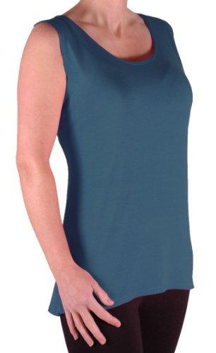 EyeCatch TM - Débardeur long fines bretelles - Virginia - Femme - Grandes Tailles Sarcelle