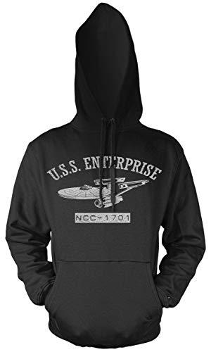Uglyshirt89 USS Enterprise Männer und Herren Kapuzenpullover | NCC1701A Voyager Spock Raumschiff (L)