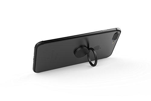 Kronya® | 360° drehbarer Smartphone Fingerhalter | Auto Finger Fitness Griff Halter Halterung Handy Ring Ringhalter Sport Ständer Tablet Apple iPhone iPad 7 8 10 X Samsung Galaxy S8 4 (Schwarz) - 2
