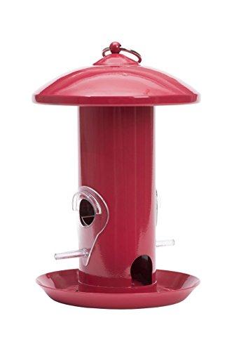 Perky-Pet Klassik-Metall-Vogelfuttersäule Vogelfutterspender, Mod. ML022, rot